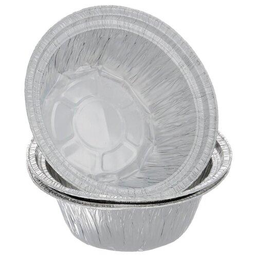 Форма для запекания алюминиевая HomeQueen 57224, 3 шт. (18.5х7 см)