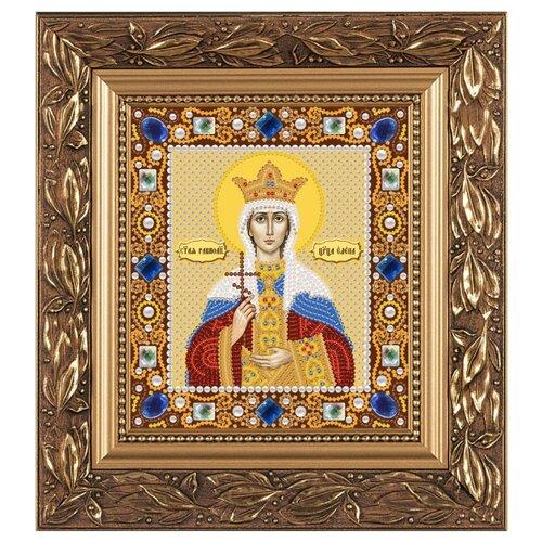 Купить NOVA SLOBODА Набор для вышивания бисером иконы Св. Равноапостольная Царица Елена 13 х 15 см (Д6153), Наборы для вышивания