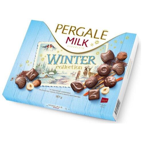 набор pergale шоколадных конфет из темного шоколада 187 г Набор конфет Pergale Milk Winter Collection 187 г