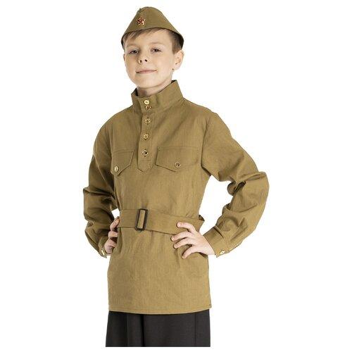 Купить Костюм Вестифика Гимнастерка (108 001), коричневый, размер 104-110, Карнавальные костюмы
