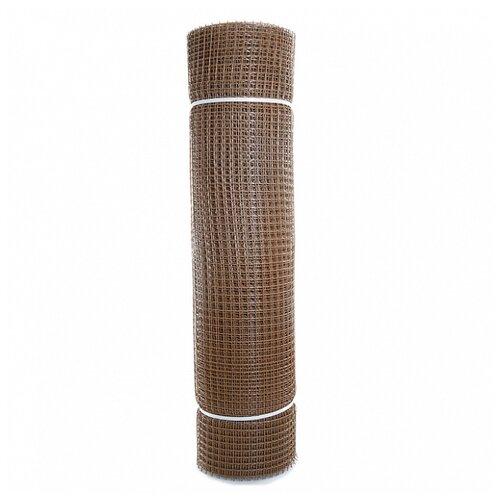 Садовая сетка квадратная 15х15 (1,0х20) ПРОФИ коричневая сетка пластиковая садовая квадрат желтая ср 15 1 20 15х15 мм 1х20 м