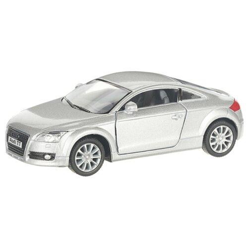 Купить Детская инерционная металлическая машинка с открывающимися дверями, модель Audi ТТ 2008, серебристый, Serinity Toys, Машинки и техника