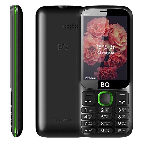 Телефон BQ 3590 Step XXL+, черный / зеленый мобильный телефон bq step xxl 3590 64mb черный синий 2sim 3 5 tft 320x480