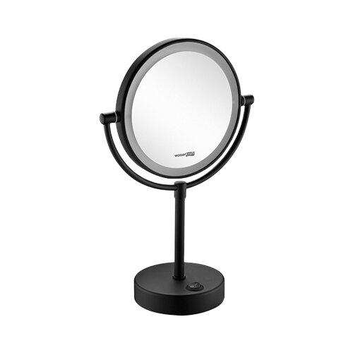 Зеркало косметическое настольное WasserKRAFT K-1005 с подсветкой черный