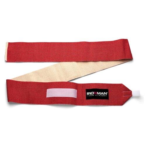 Бинт IRONMAN спортивный общего назначения, 1.5 метра красный страховка общего назначения ironman цвет красный 2 м