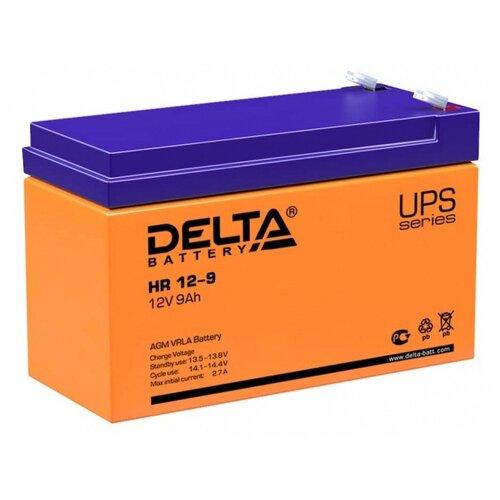 Фото - Аккумуляторная батарея DELTA Battery HR 12-9 9 А·ч аккумуляторная батарея delta battery gel 12 33 33 а·ч