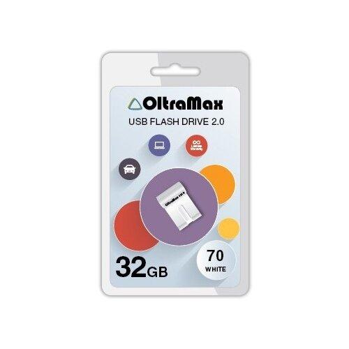 Фото - Флешка OltraMax 70 32GB white флешка oltramax 240 16gb red
