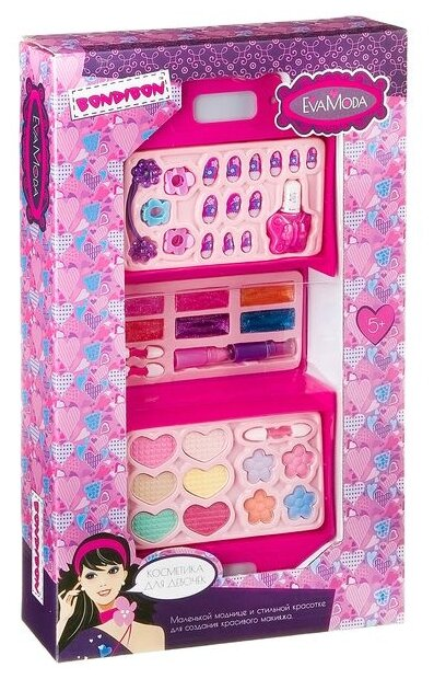 Набор детской декоративной косметики BONDIBON ВВ2279 Eva Moda, BOX 40*24*7 см