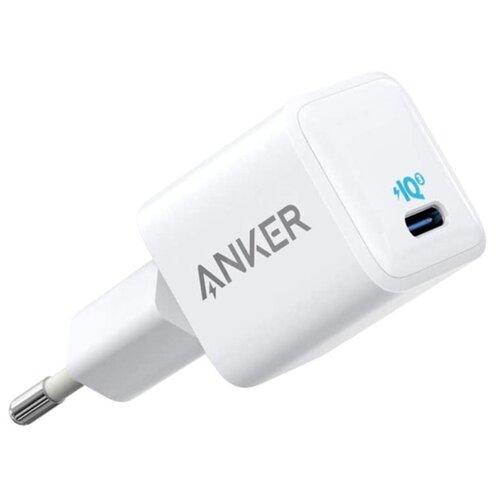 Сетевое зарядное устройство Anker PowerPort 3 Nano 20W USB-C EU White