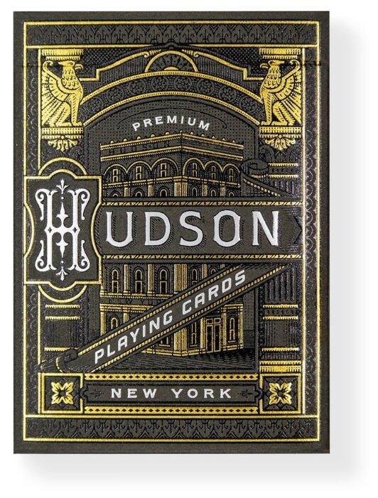 Карты для покера Theory 11 Black Hudson