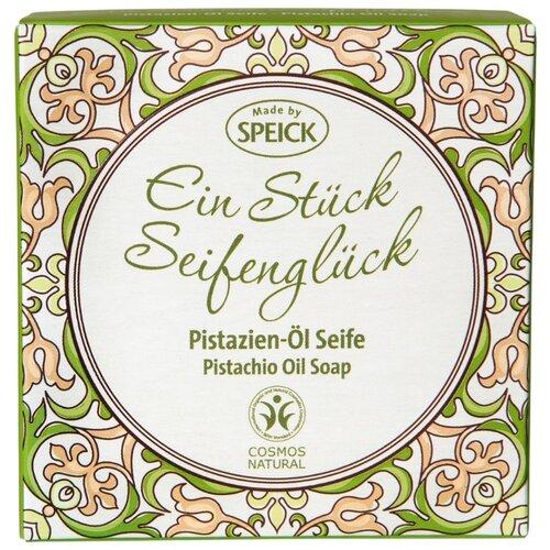 Фото - Мыло кусковое Speick Pistachio Oil Soap с фисташковым маслом, 100 г мыло кусковое кедровое с льняным маслом аю дух леса 115 г