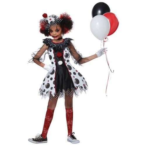 Купить Костюм California Costumes Жуткий клоун 00586, белый/черный/красный, размер XL (12-14 лет), Карнавальные костюмы