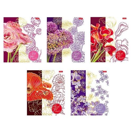 Купить Hatber Тетрадь Painted Flowers 058945, клетка, 48 л., Тетради