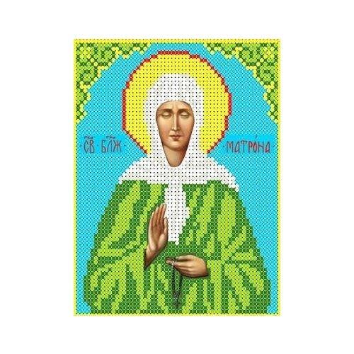 Набор Святая Матрона Московская бисер 13х16 Каролинка КБИН(Ч) 5027