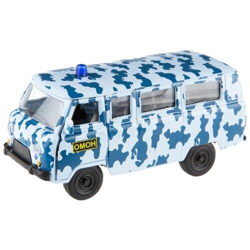 Купить Микроавтобус Play Smart Автопарк УАЗ 39625 ОМОН (6402-C) 1:50 голубой/синий, Машинки и техника