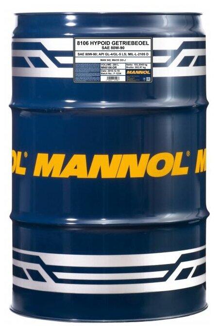 Масло трансмиссионное Mannol Hypoid Getriebeoel 80W-90 80W-90 — купить по выгодной цене на Яндекс.Маркете