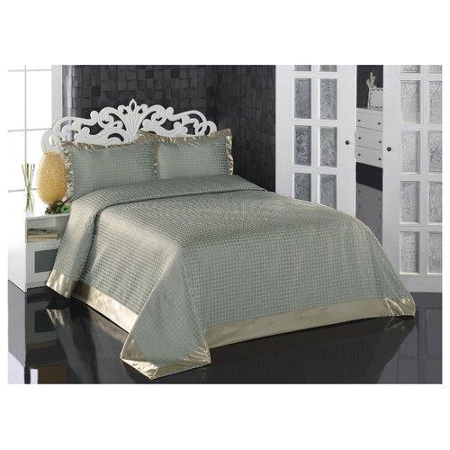 Комплект с покрывалом KARNA GREVEN 260x260 см, ментол karna rebeka 200x220 см кремовый
