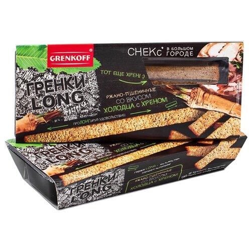 ГРЕНКОВЪ Гренки LONG ржано-пшеничные со вкусом холодца с хреном, 100 гСухарики<br>