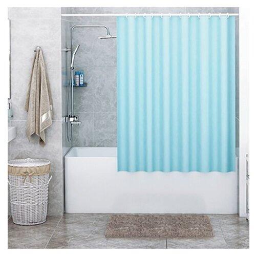 Штора для ванной WasserKRAFT Oder SC-30201 180x200 голубой