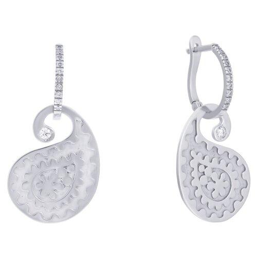 JV Золотые серьги с бриллиантами 2-303-35001-SR-WG