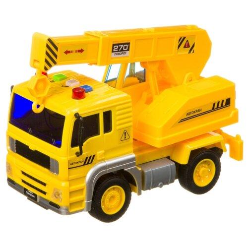 Купить Автокран BONDIBON Парк Техники (ВВ4061) 18 см желтый, Машинки и техника