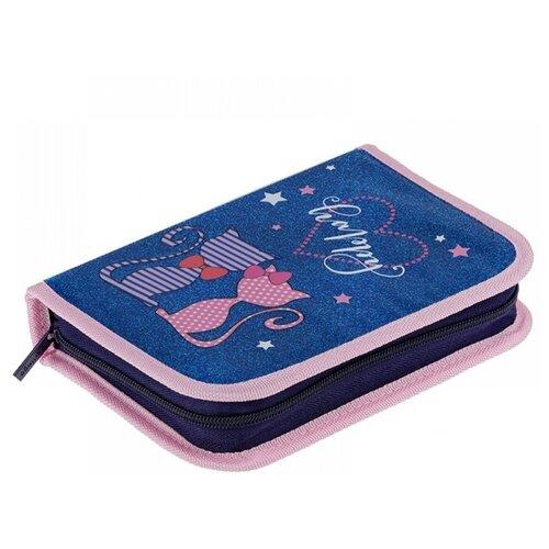 Купить Berlingo Пенал Happy cats (PK05943) розовый/синий, Пеналы