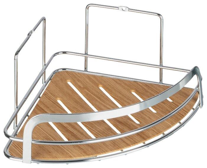 Купить Полка для ванной комнаты угловая одинарная, Wood по низкой цене с доставкой из Яндекс.Маркета (бывший Беру)