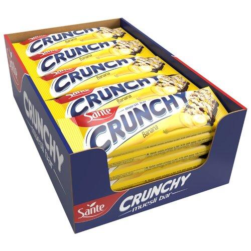 Злаковый батончик Sante Crunchy с бананом в шоколаде, 25 шт