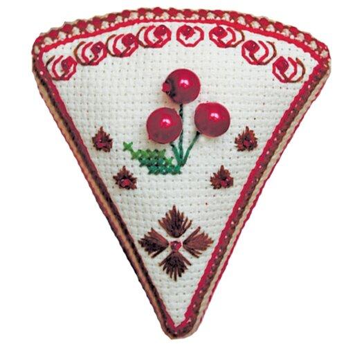ZENGANA Набор для вышивания бисером и нитками Вишневый тортик 7 х 8 см (М-112)
