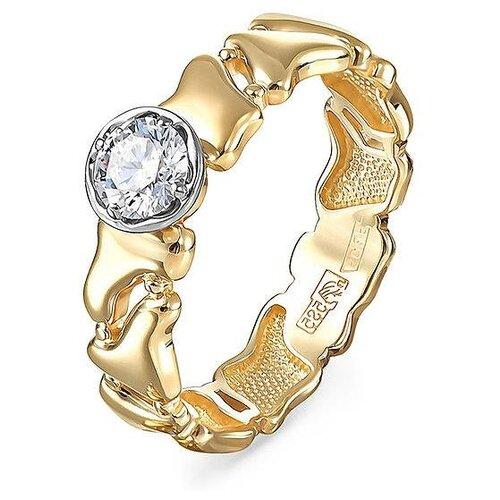Фото - KABAROVSKY Кольцо с 1 бриллиантом из жёлтого золота 1-2497-1000, размер 16.5 kabarovsky кольцо с 1 бриллиантом из жёлтого золота 11 2999 1000 размер 18