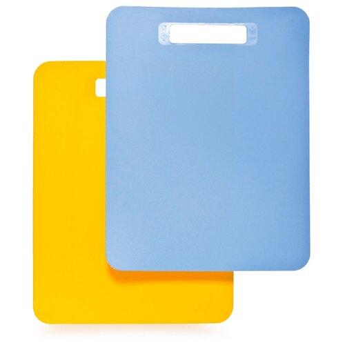 Набор разделочных досок ПОЛИМЕРБЫТ Комфорт 805 37x29 см (2 шт.) голубой/желтый