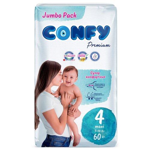 Купить CONFY подгузники Premium 4 (7-14 кг) 60 шт., Подгузники