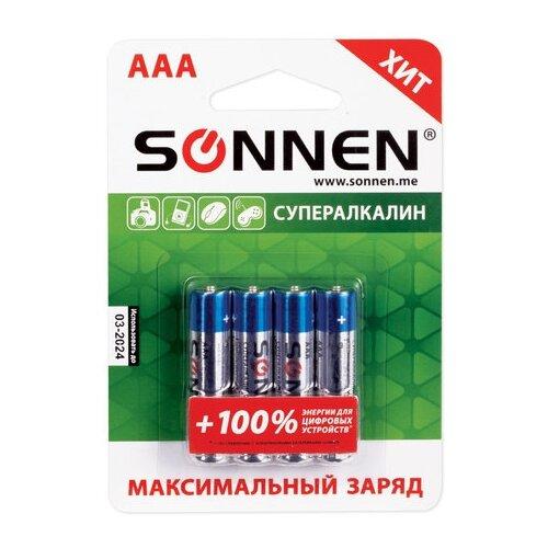 Фото - Батарейка SONNEN AAA LR03 максимальный заряд, 4 шт. батарейка sonnen cr2032 1 шт блистер