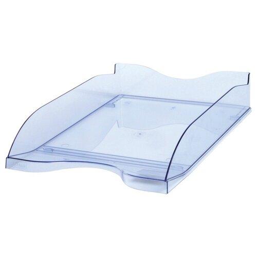 Купить Лоток горизонтальный для бумаги СТАММ Люкс тонированный голубой, Лотки для бумаги