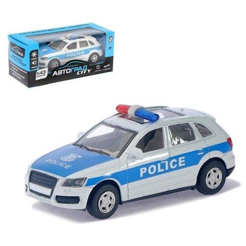 Фото - Джип Автоград металлический Полицейский, инерционный, свет и звук, масштаб 1:43 (1740074) автоград машина металл полицейский джип инерционная свет и звук масштаб 1 43 sl 2493d 1740074