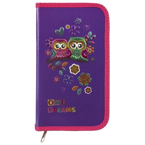 Юнландия Пенал Совы (228258) фиолетовый ножницы юнландия ёжик 236982