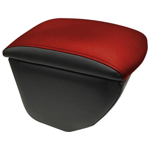 Подлокотник передний Honda Fit 2001-2008 экокожа Черный-красный подлокотник передний honda jazz 2001 экокожа чёрно синий