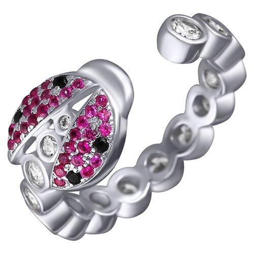 ELEMENT47 Кольцо из серебра 925 пробы с кубическим цирконием SS-B1142RC_KO_001_WG, размер 17.5