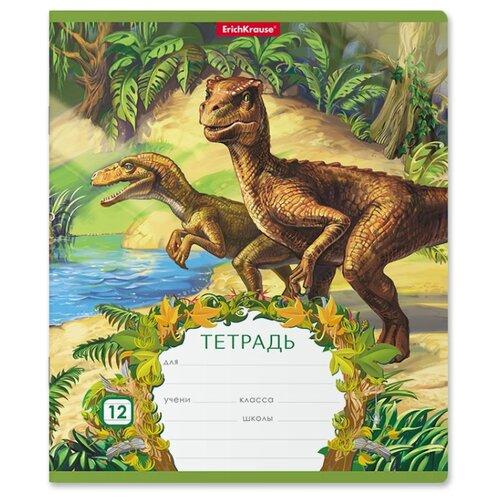 Купить ErichKrause Тетрадь Эра динозавров 46543, линейка, 12 л., Тетради