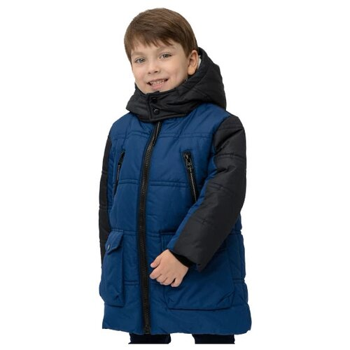 Купить Куртка Button Blue 220BBBMC45021000 размер 104, синий, Куртки и пуховики