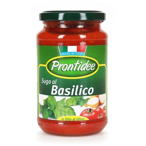 Соус Prontidee Томатный с базиликом, 350 г unidan соус томатный с хреном 500 г
