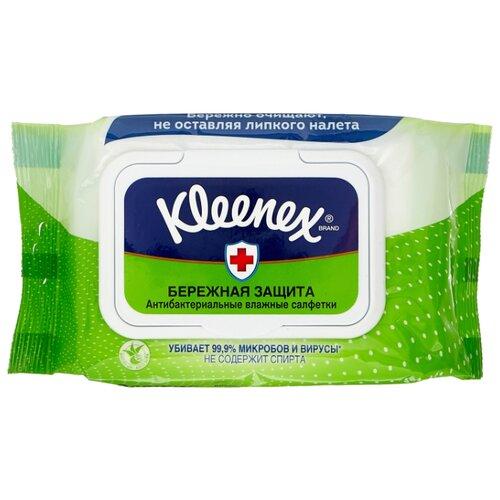 Влажные салфетки Kleenex Бережная защита антибактериальные 40 шт. kleenex салфетки kleenex collection 100 штук