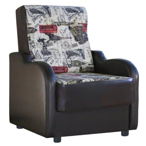 Классическое кресло Шарм-Дизайн Классика В размер: 71х93 см, обивка: комбинированная, цвет: париж
