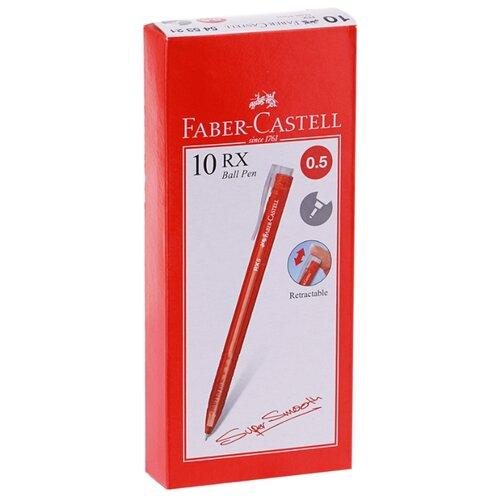 Купить Faber-Castell Набор шариковых ручек автоматических RX5 0.5 мм, 10 шт., красный цвет чернил, Ручки