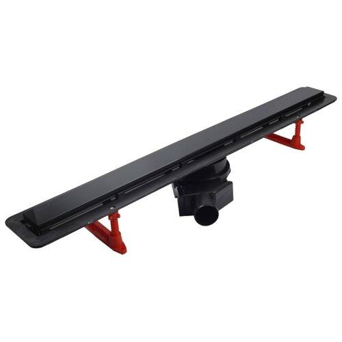 Лоток для душа PESTAN Confluo Frameless Line 450 Black Glass 13701202