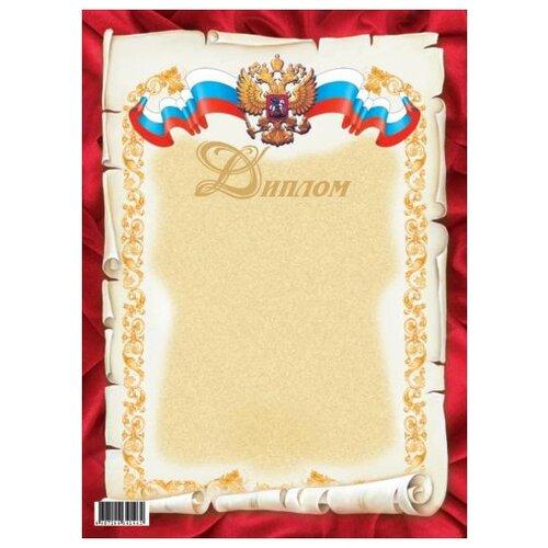 Диплом, красный с гербом РФ