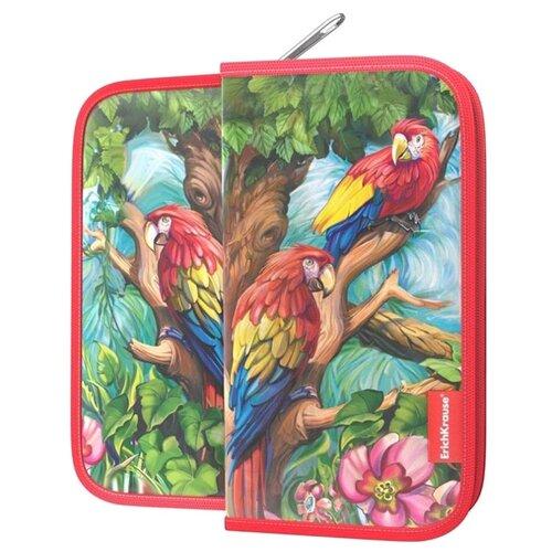 Купить ErichKrause Пенал-книжка Parrot (46869) красный, Пеналы