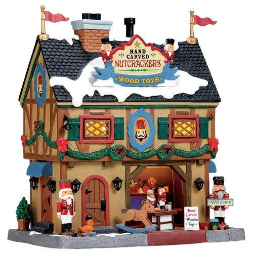 Фигурка LEMAX Магазин деревянных игрушек Щелкунчик 22 х 19 х 13 см бежевый/черный по цене 11 124