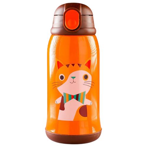 Классический термос TUNDRA Котёнок 4460522, 0.6 л оранжевый