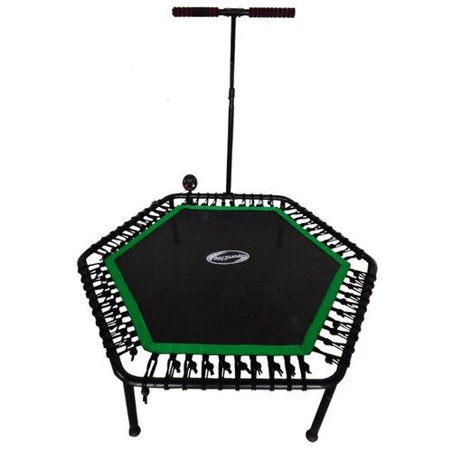 Каркасный батут Sport Elite FB-1351 135х135х108 см черный/зеленый